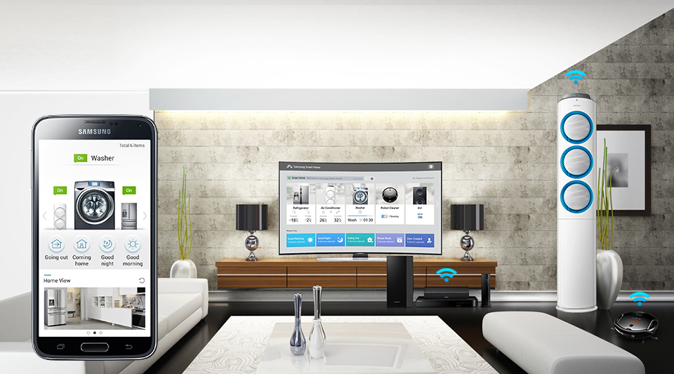 samsung is banking on smart home where everything in your house will be able to talk to each. Black Bedroom Furniture Sets. Home Design Ideas