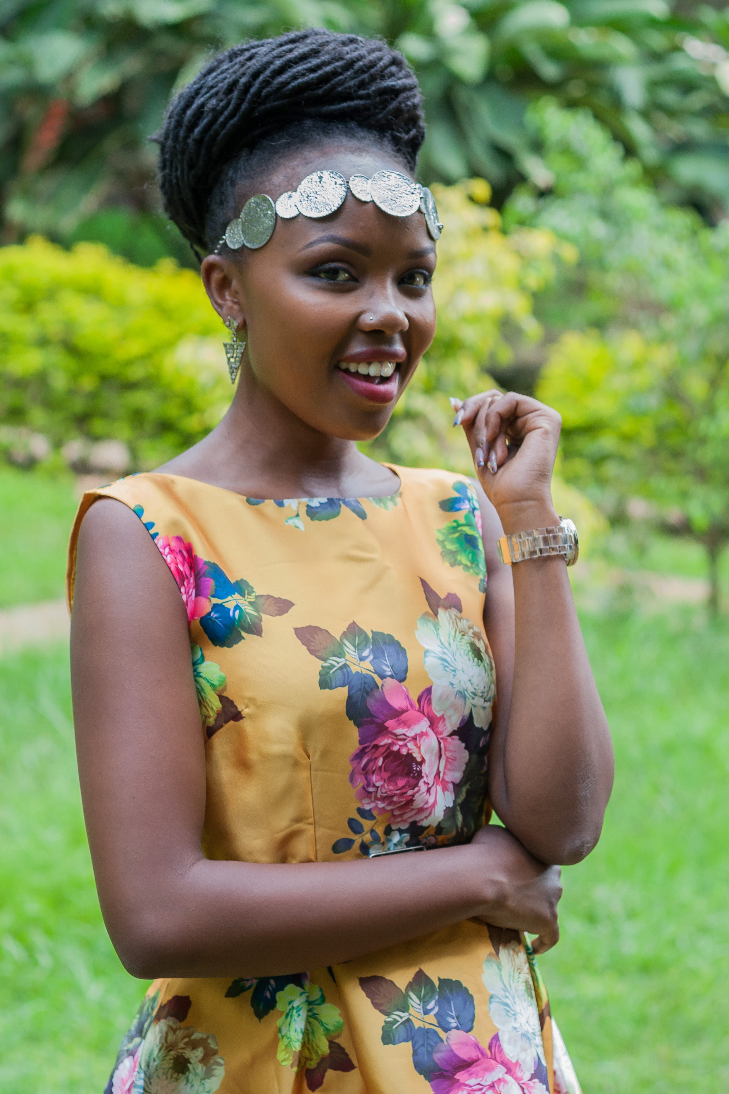 One of the five finalists, Ivlyn Mutua - M.S