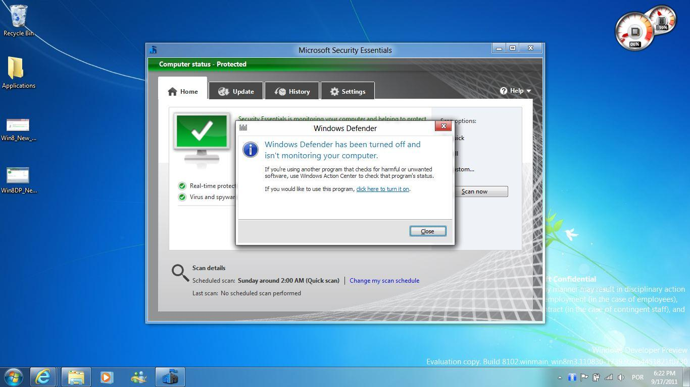 how to get to windows defender in windows 7